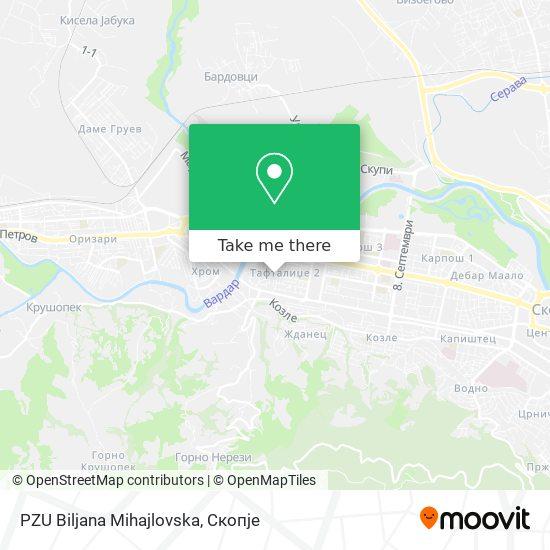 PZU Biljana Mihajlovska map