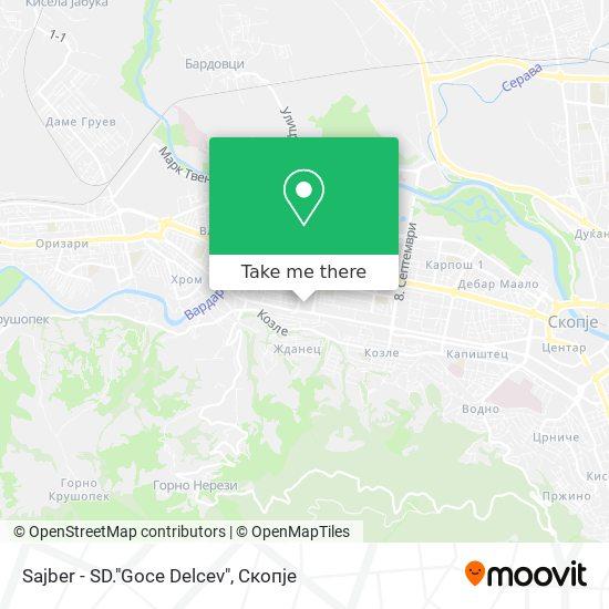 """Sajber - SD.""""Goce Delcev"""" map"""