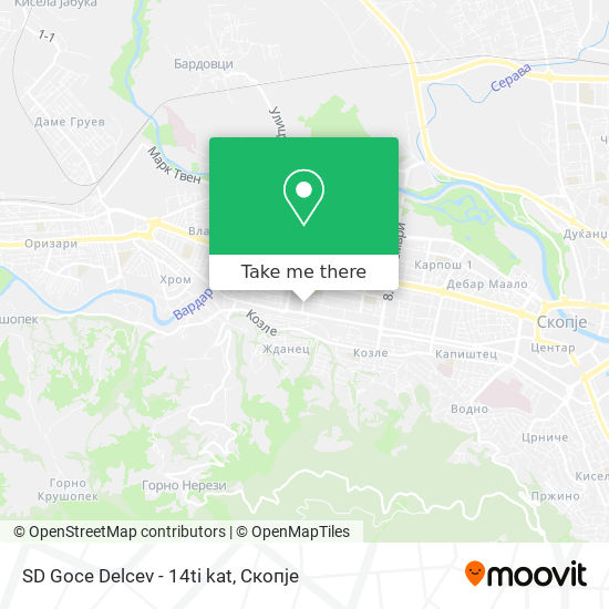 SD Goce Delcev - 14ti kat map