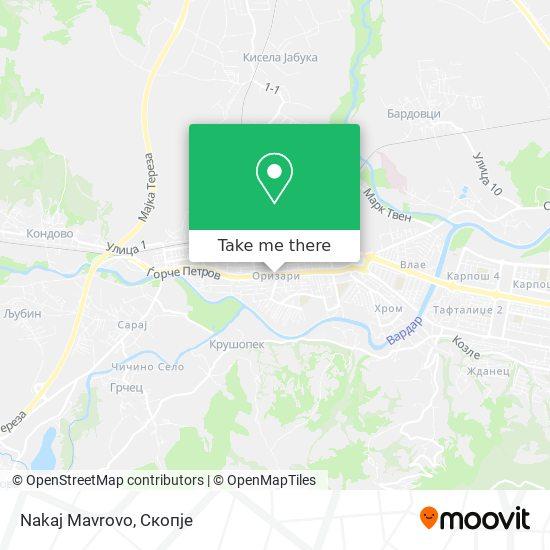 Nakaj Mavrovo map