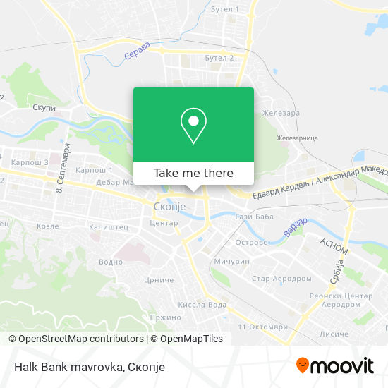 Halk Bank mavrovka map