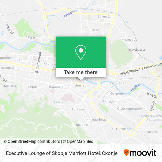 Executive Lounge of Skopje Marriott Hotel map