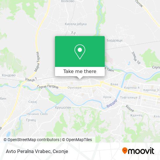 Avto Peralna Vrabec map
