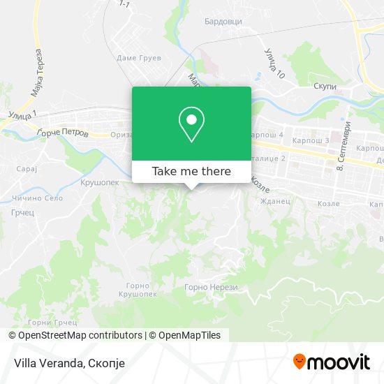 Villa Veranda map