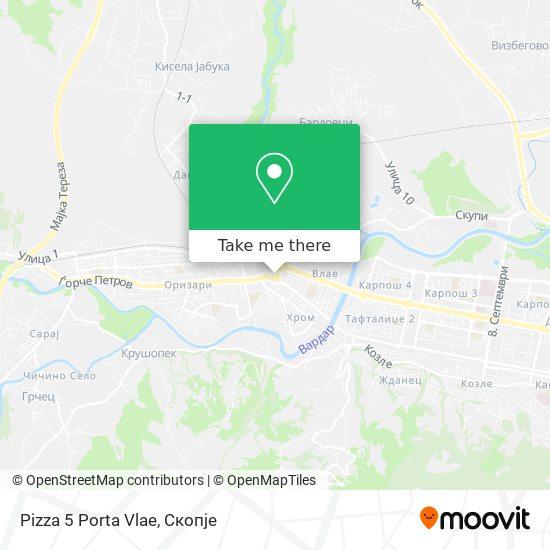 Pizza 5 Porta Vlae map