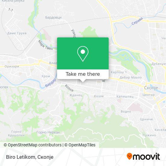 Biro Letikom map