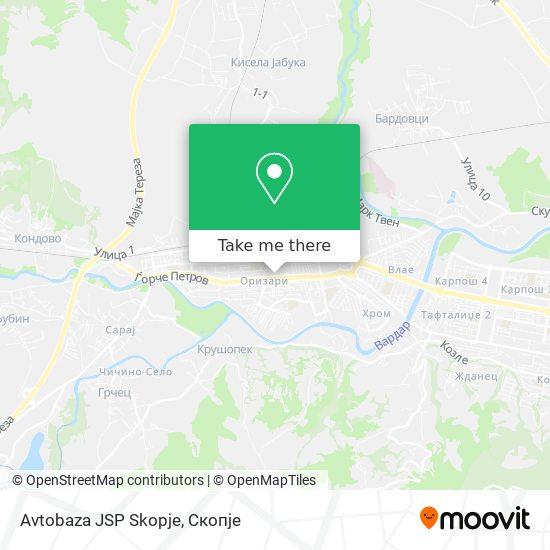 Avtobaza JSP Skopje map