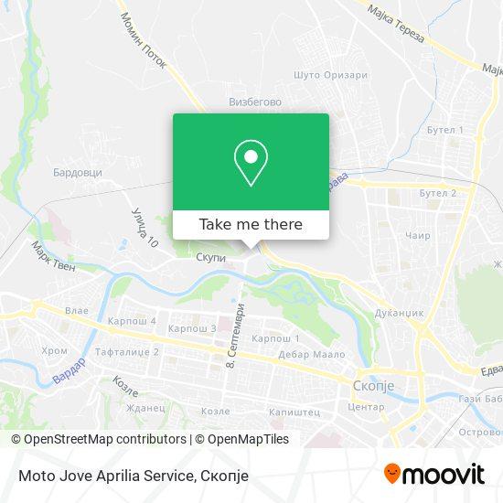 Moto Jove Aprilia Service map