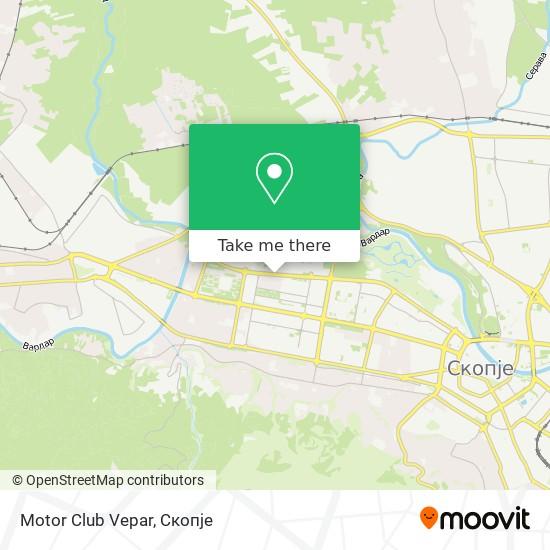 Motor Club Vepar map