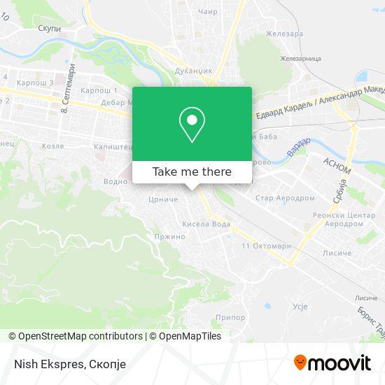 Nish Ekspres map