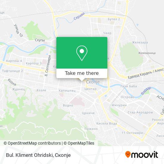 Bul. Kliment Ohridski map