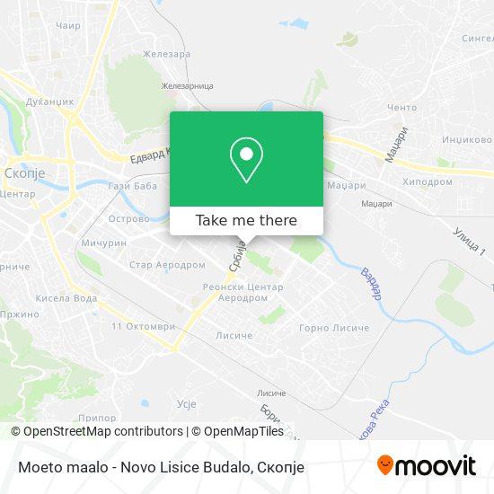 Moeto maalo - Novo Lisice Budalo map