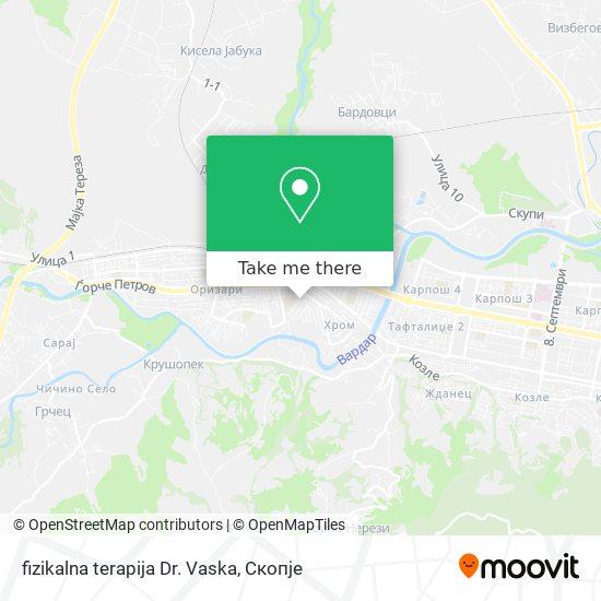 fizikalna terapija Dr. Vaska map