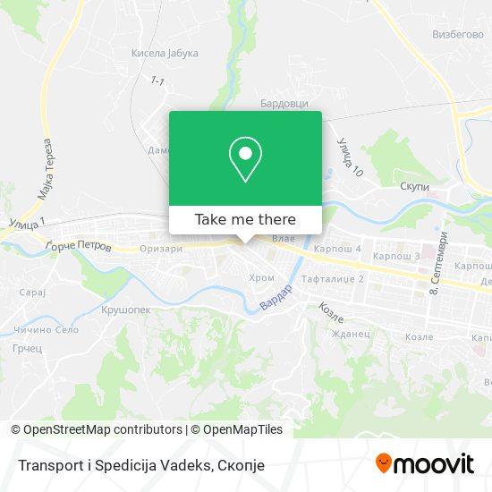 Transport i Spedicija Vadeks map