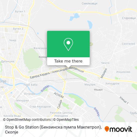 Stop & Go Station (Бензинска пумпа Макпетрол) map