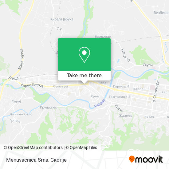 Menuvacnica Srna map