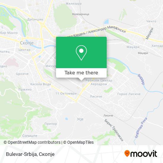 Bulevar-Srbija map