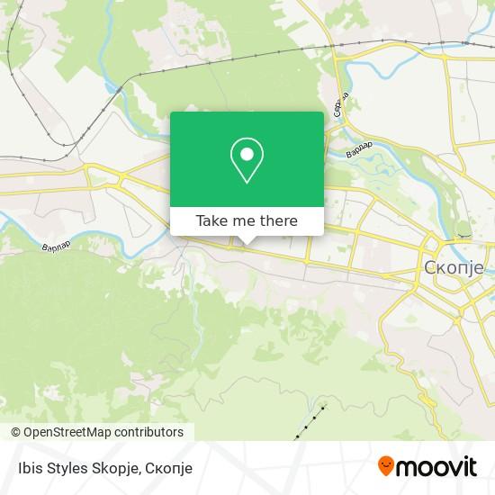 Ibis Styles Skopje map