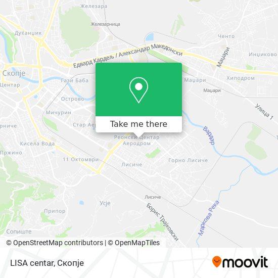 LISA centar map