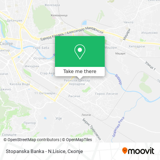 Stopanska Banka - N.Lisice map