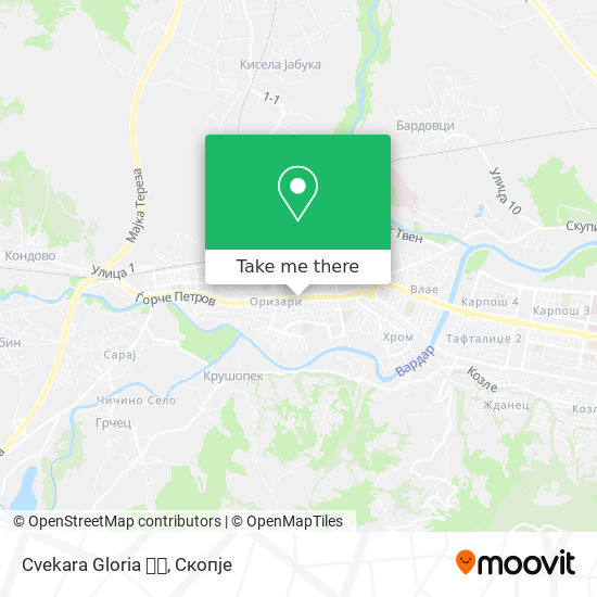 Cvekara Gloria 🌼🌼 map