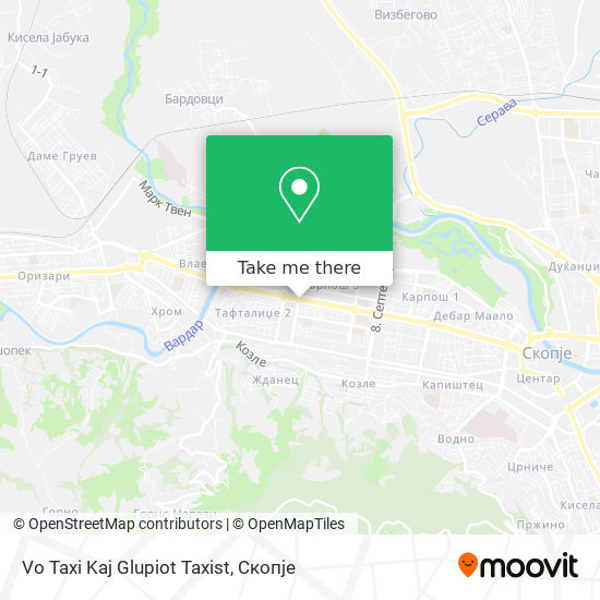 Vo Taxi Kaj Glupiot Taxist map