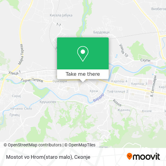Mostot vo Hrom(staro malo) map