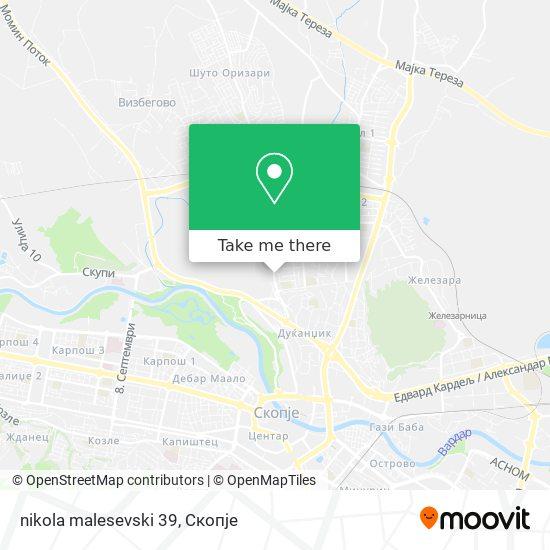 nikola malesevski 39 map