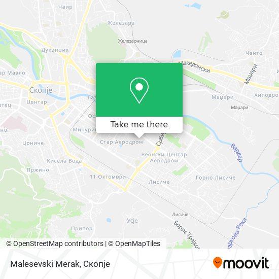 Malesevski Merak map