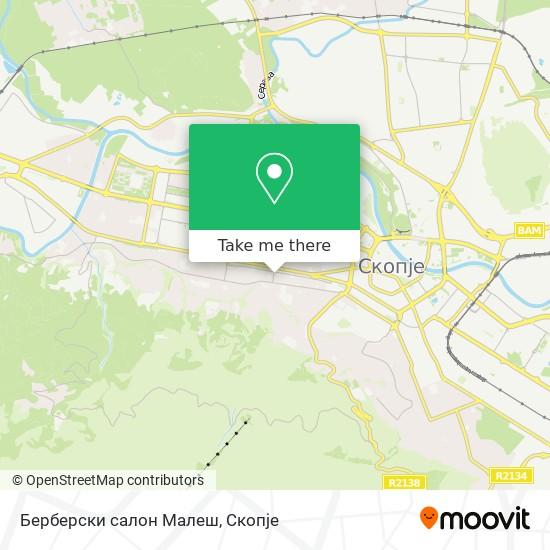 Берберски салон Малеш map