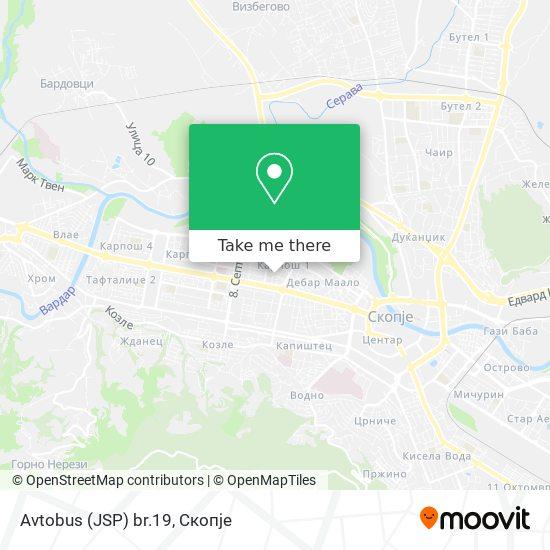 Avtobus (JSP) br.19 map