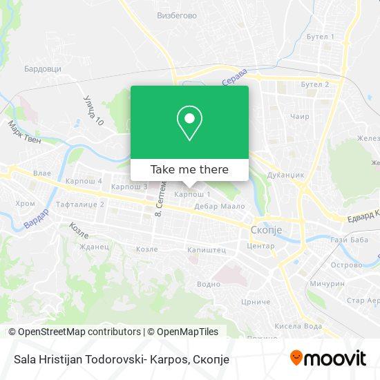 Sala Hristijan Todorovski- Karpos map