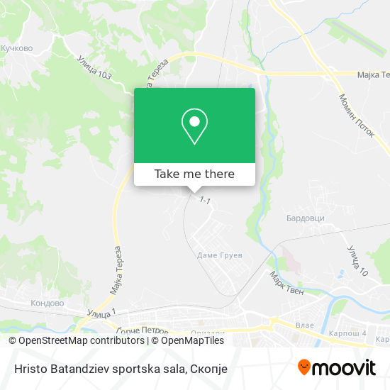 Hristo Batandziev sportska sala map