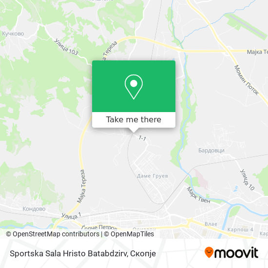 Sportska Sala Hristo Batabdzirv map