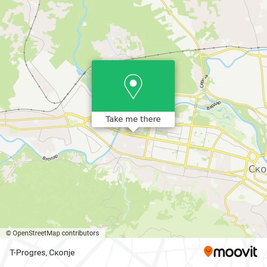 T-Progres map