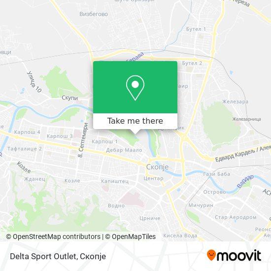 Delta Sport Outlet map