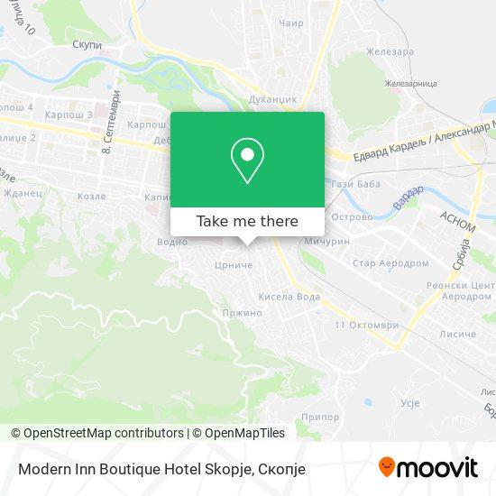 Modern Inn Boutique Hotel Skopje map