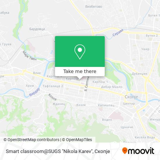 "Smart classroom@SUGS ""Nikola Karev"" map"