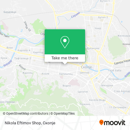 Nikola Eftimov  Shop map