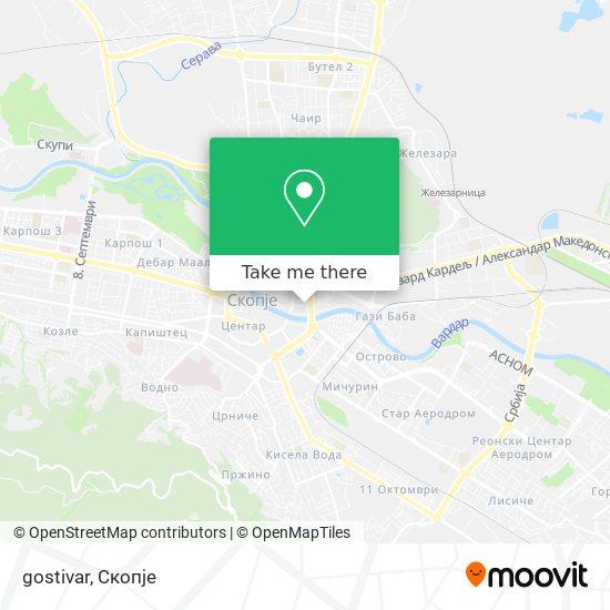 gostivar map