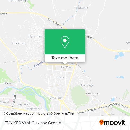 EVN KEC Vasil Glavinov map