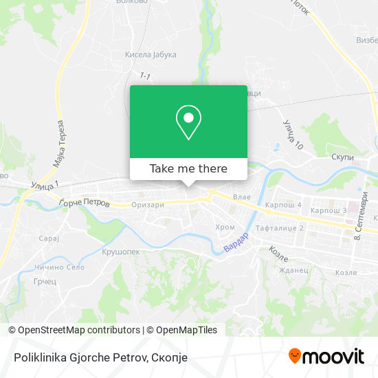 Poliklinika Gjorche Petrov map