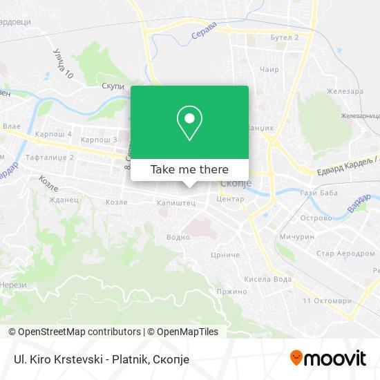 Ul. Kiro Krstevski - Platnik map