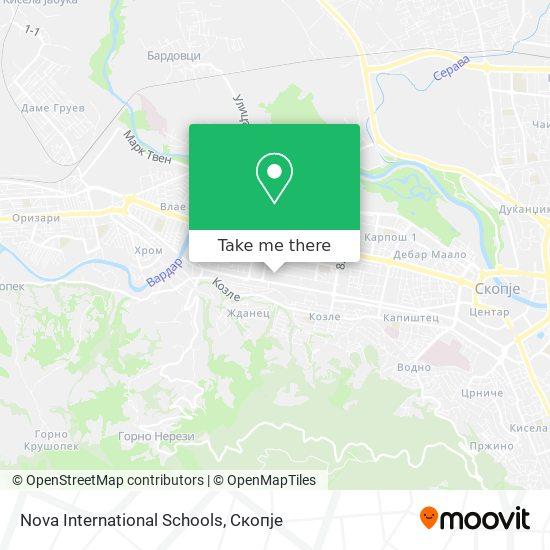 Nova International Schools map
