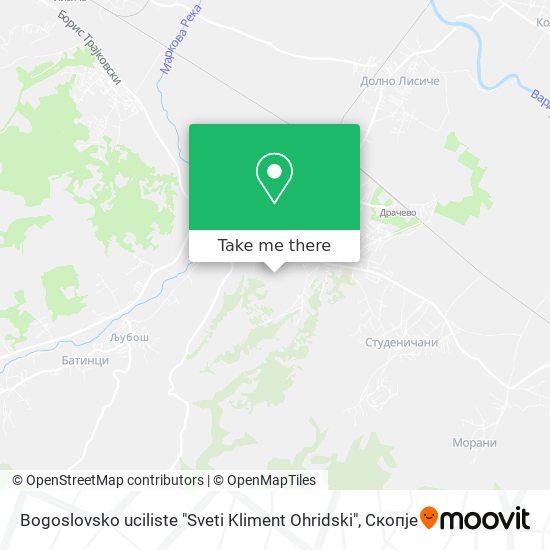 "Bogoslovsko uciliste ""Sveti Kliment Ohridski"" map"