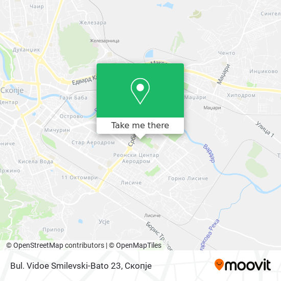 Bul. Vidoe Smilevski-Bato 23 map
