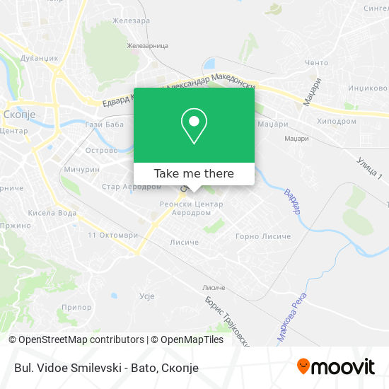 Bul. Vidoe Smilevski - Bato map