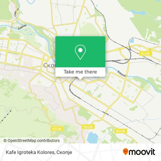 Kafe Igroteka Kolores map