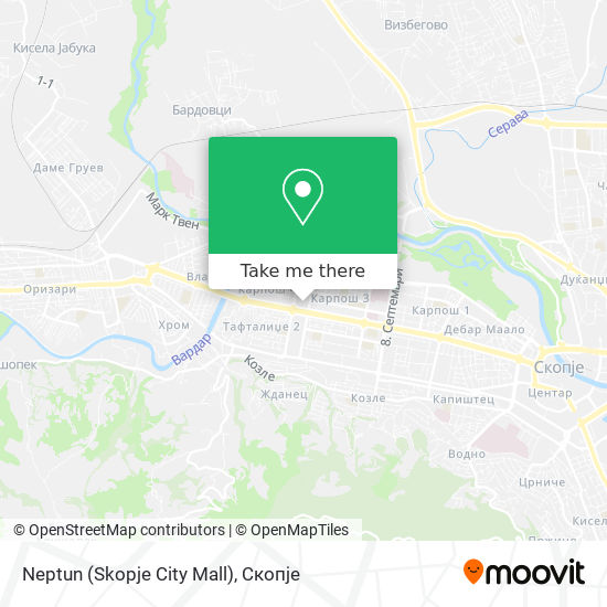 Neptun (Skopje City Mall) map