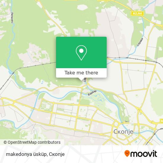 makedonya üsküp map
